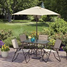 97 00 Walmart Mainstays Glenmeadow 6 Piece Folding Patio