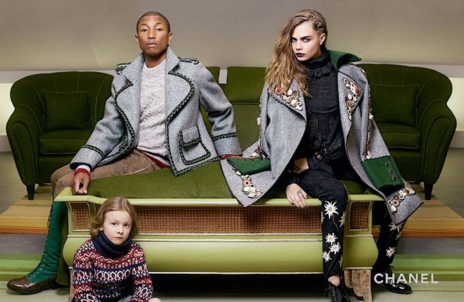 Cara Delevingne and Pharrell Williams reunite for Chanel's Paris-Salzburg campaign