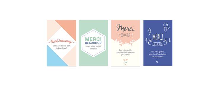 Petites cartes Merci  // MyDearPaper.com