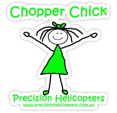 Stickers $2.32 get 50% off for 6 or more (can mix up the combinations too!) http://www.redbubble.com/people/precisionheli/works/6214910-chopper-chick?c=316630-tote-bags&p=sticker