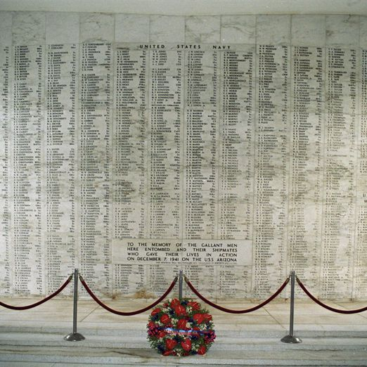 """Pearl Harbor Memorial ~ Oahu, Hawaii    1177 young  men who were 19-20 years old lost their lives, when the ship the """"Arizona"""" was sunk, during the bombing of Pearl Harbor. 1102 of them still lie in their watery grave in the sunken ship. Very emotional and sobering to see."""