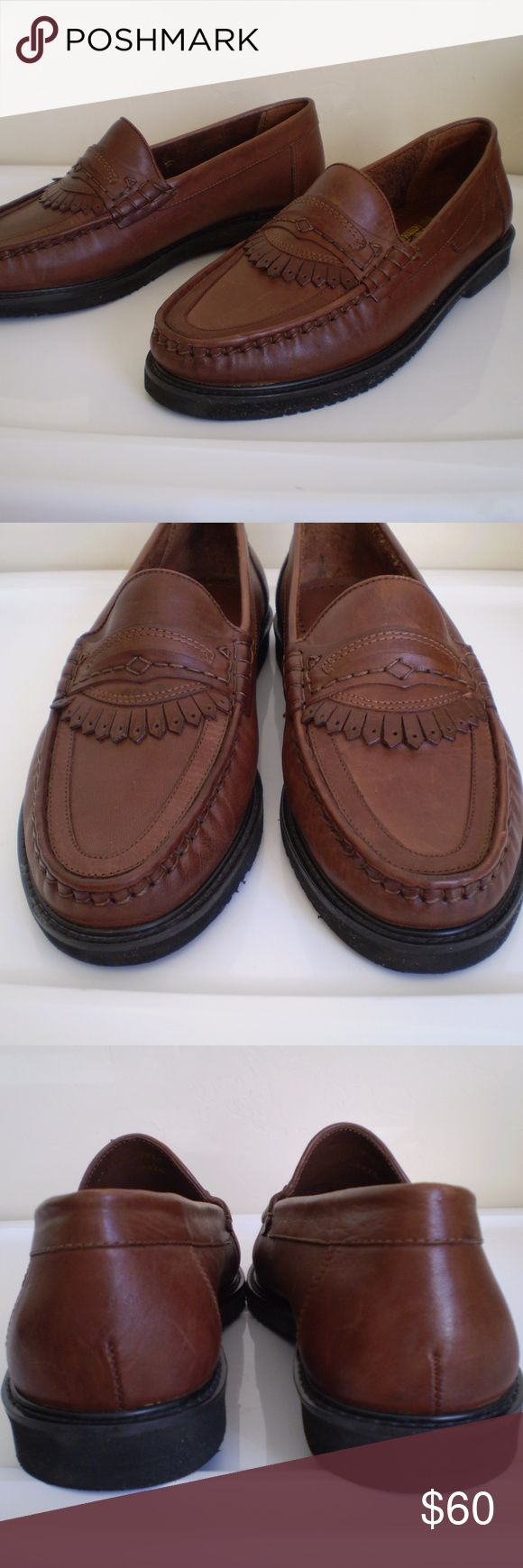 brown genuine leather man Brown genuine leather man dressy casual shoes, size 9.5, in excellent condition. Shoes is light weight and soft. DWT International Shoes Loafers & Slip-Ons