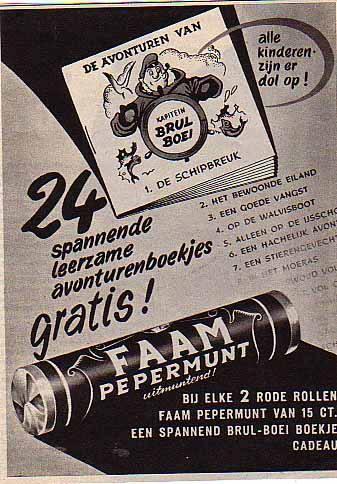 Vintage reclame voor Faam pepermunt