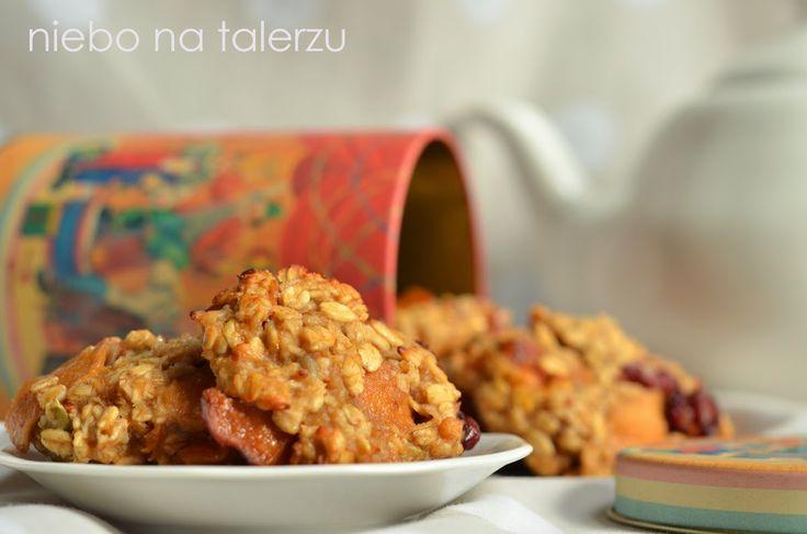 niebo na talerzu: Ciasteczka owsiane z jabłkami
