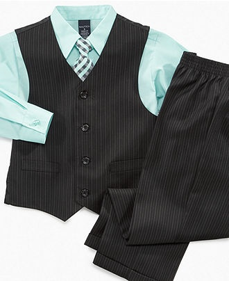 They also have this same color and style at kmart stores. $17  Nautica Kids Set, Little Boys 4 Piece Vest Set - Kids Boys 2-7 - Macy's