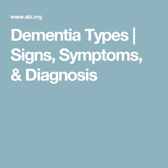 Dementia Types | Signs, Symptoms, & Diagnosis