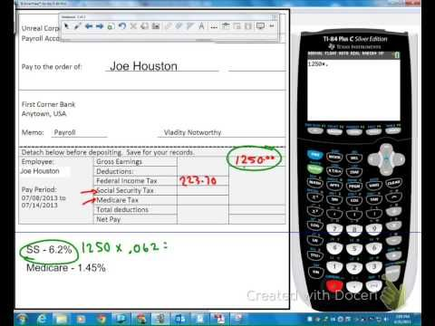 How To Calculate Gross To Net Pay Financial Documents Federal