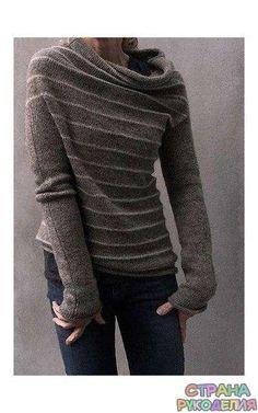 Необычный свитер - Жакеты,Пуловеры, свитера - Вязание спицами - Рукоделие - Страна рукоделия