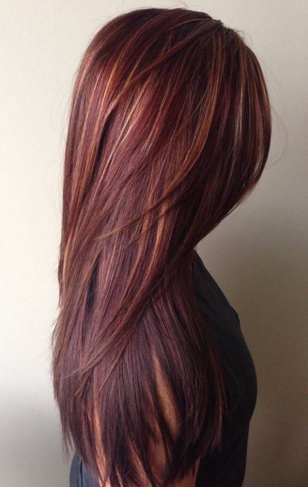 Red with highlights...Proof That Red Hair is the Ultimate Fall Hair Color, in 31…