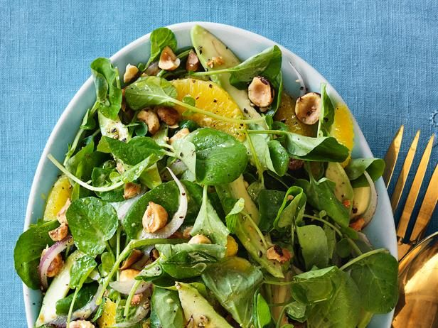 Watercress, Avocado and Orange Salad from Food Network MagazineFood Network, Avocado Salads, Salad Recipes, Quick Avocado, Orange Salad, Network Kitchens, Avocado Salad Recipe, Foodnetwork, Orange Juice