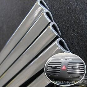 High Quality 1M Automotive Air Conditioning Outlet Door Trim U Bright Bright Body Modification Stickers Car-styling