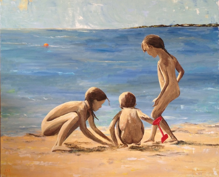 """""""My youngest at the beach"""" Not for sale!"""