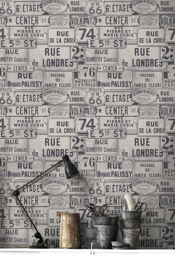 VINTAGE SIGNS Wallpaper from Discovery Collection by MINDTHEGAP