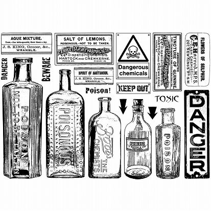 Crafty Individuals Stamp Poison & Danger,ファーマシーラベル スタンプ