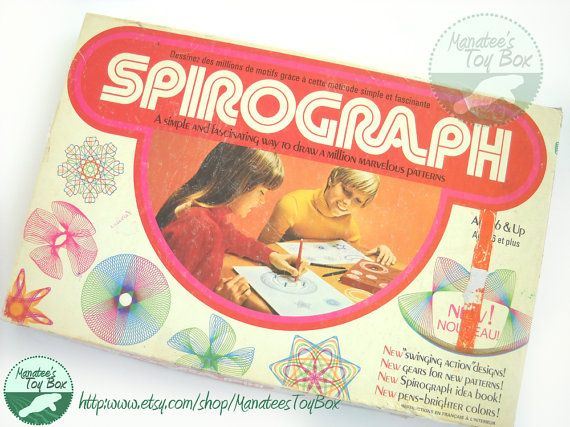Spirograph: Vintage 1970s Toy Nearly Complete Set on Etsy, $29.85