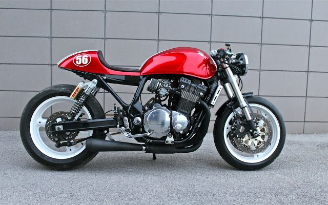 "caferacerpasion: "" Suzuki Cafe Racer by Simone Panico 