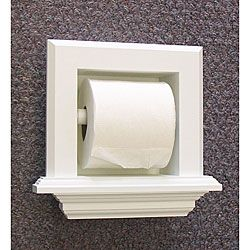 @Overstock.com.com - Update your bathroom decor with this recessed toilet paper holder  Lavatory accessory is handcrafted from solid whitewood pine  Toilet paper dispenser is easy to install http://www.overstock.com/Home-Garden/Bevel-Frame-Recessed-Toilet-Paper-Holder/3930902/product.html?CID=214117 $34.99