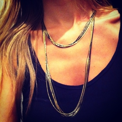Necklace in gold plated and black sterling silver. #lilalo #necklace