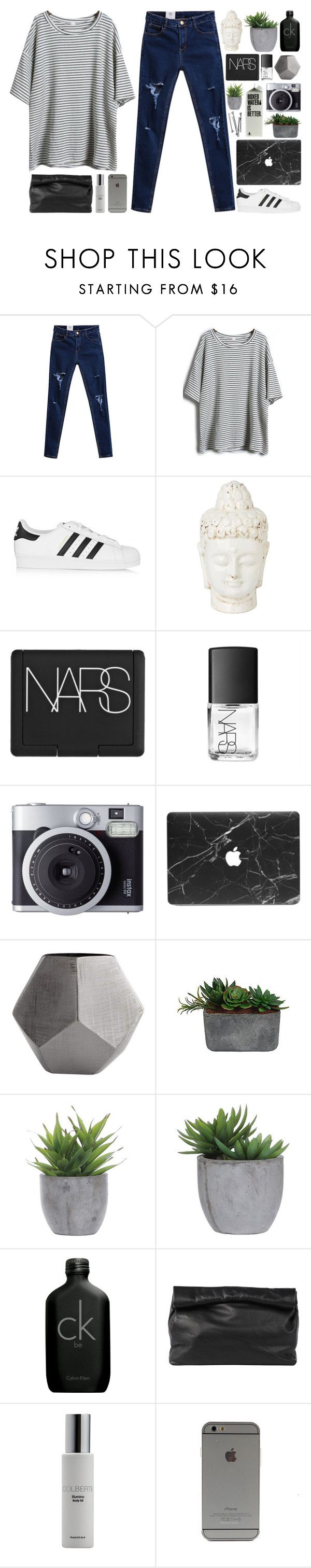 """""""= set challenge winners = // my dream wardrobe pt.14"""" by undercover-martyn ❤ liked on Polyvore featuring adidas Originals, NARS Cosmetics, Fujifilm, BOBBY, Cyan Design, Laura Ashley, Lux-Art Silks, Calvin Klein, Marie Turnor and Colbert MD"""
