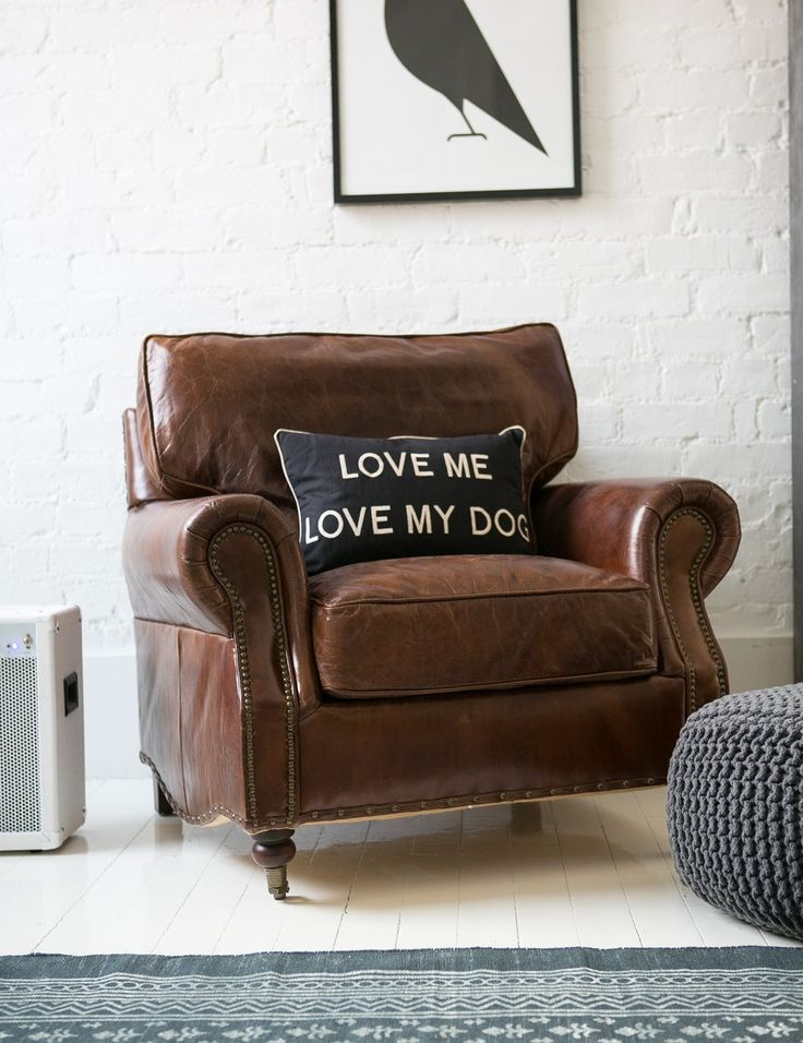 Charming Vintage Leather Armchair