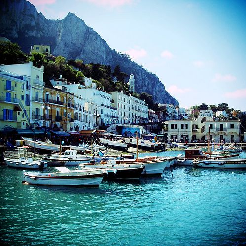 Capri, Italy 2011 - beautiful day trip from Naples. Amazing walks, lots of stairs, gorgeous boutique shops, eateries and water sooooo blue.