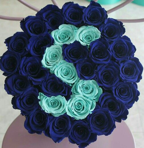 This is AWESOME! Your initials in a bouquet of roses.