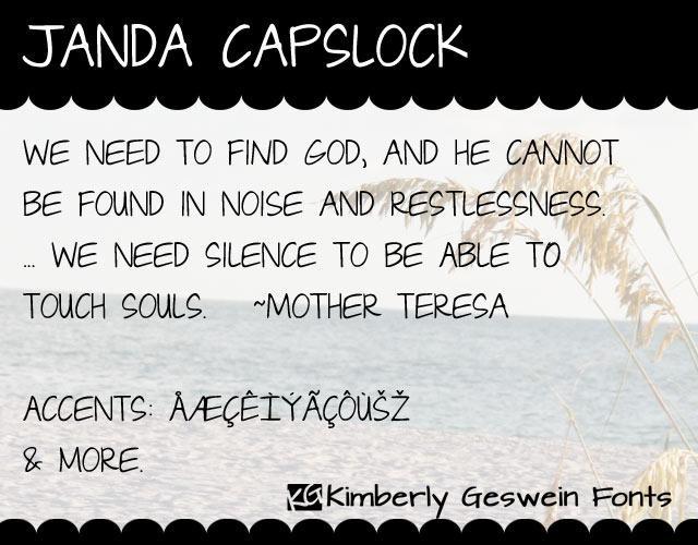 Janda Capslock Font Handwriting fonts, Fonts, Handwriting