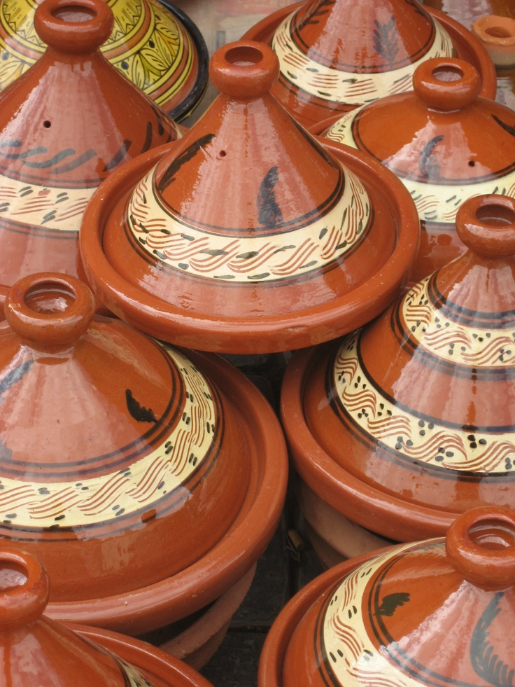 Ceramic tagines. A tagine is a historically Berber dish from North Africa