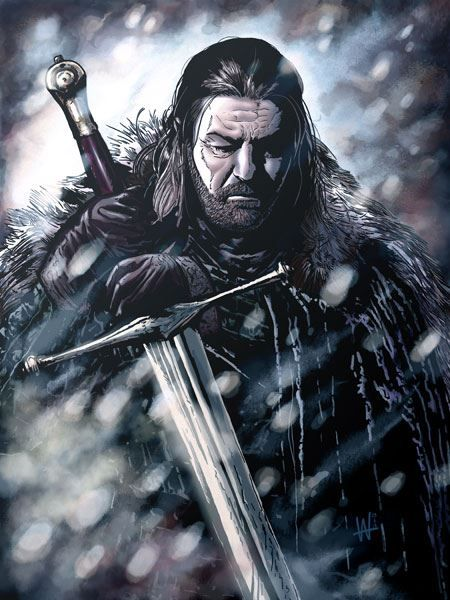 Eddard Stark: Is that what you tell yourself at night? You're a servant of justice? That you were avenging my father when you shoved your sword in Aerys Targaryen's back?