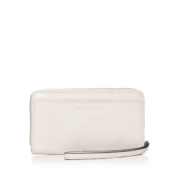DECADENT 342 Zip wallet Off white