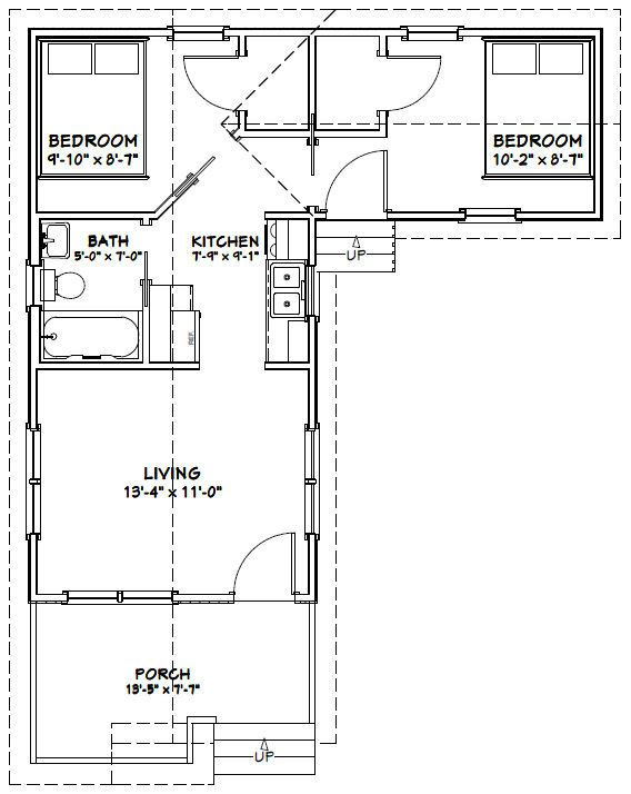 14x28 2 Bedroom 1 Bath Tiny Homes PDF by ExcellentFloorPlans   FLOOR PLANS    Pinterest   Home  Bedrooms and Tiny homes. 14x28 2 Bedroom 1 Bath Tiny Homes PDF by ExcellentFloorPlans