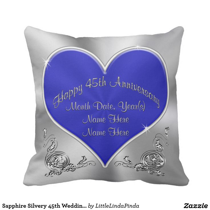 Shire Silvery 45th Wedding Anniversary Pillow Pas Anniversarywedding Giftsanniversary Ideaspillows