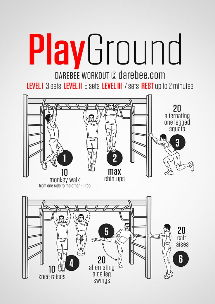 Taking the kids to the playground is a great time to get your own exercise! Playground Workout