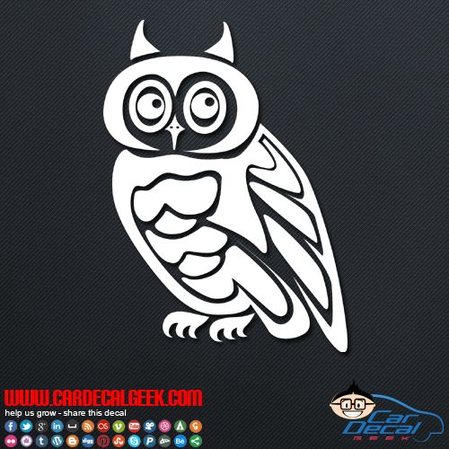 Wise old owl car window truck decal sticker owl decals