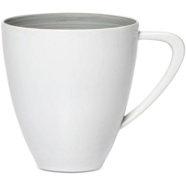 Mikasa Savona Gray Mug ($18) ❤ liked on Polyvore featuring home, kitchen & dining, drinkware, grey group, mikasa, mikasa mugs, porcelain mugs, mikasa drinkware and grey mugs