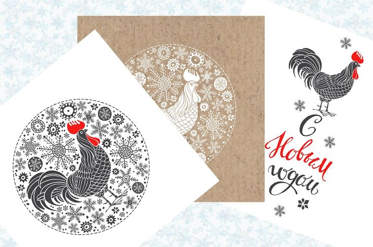 New Year's Rooster by maritime_m on @creativemarket