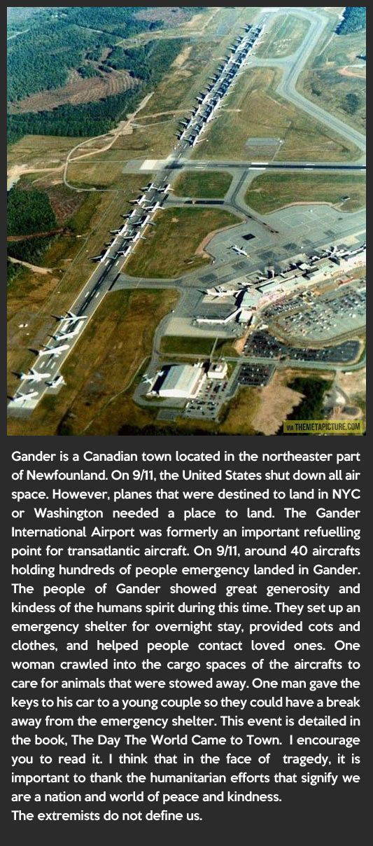 A little known town did a little known good deed on 9/11…