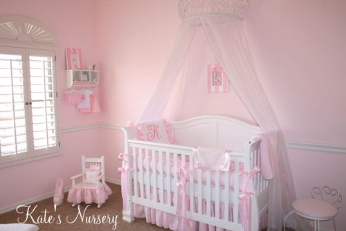 Sarah look at this pretty baby girls room ... so cute.