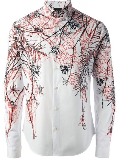 MCQ BY ALEXANDER MCQUEEN Web And Rose Print Shirt
