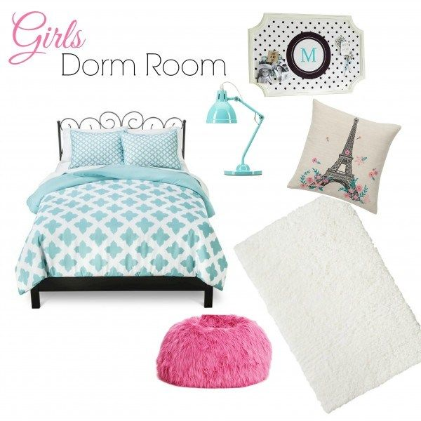 Girls Dorm Decor Inspiration from houseontheway.com