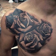 Fred Flores Chest Piece - Roses