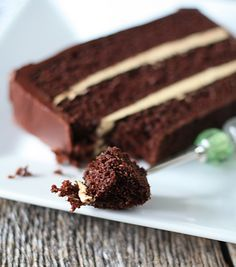 """Chocolate cake with espresso buttercream and chocolate ganache (My Baking Addiction). """"Stunningly gorgeous and absolutely delicious...It may seriously be the absolute best cake I have ever made."""""""