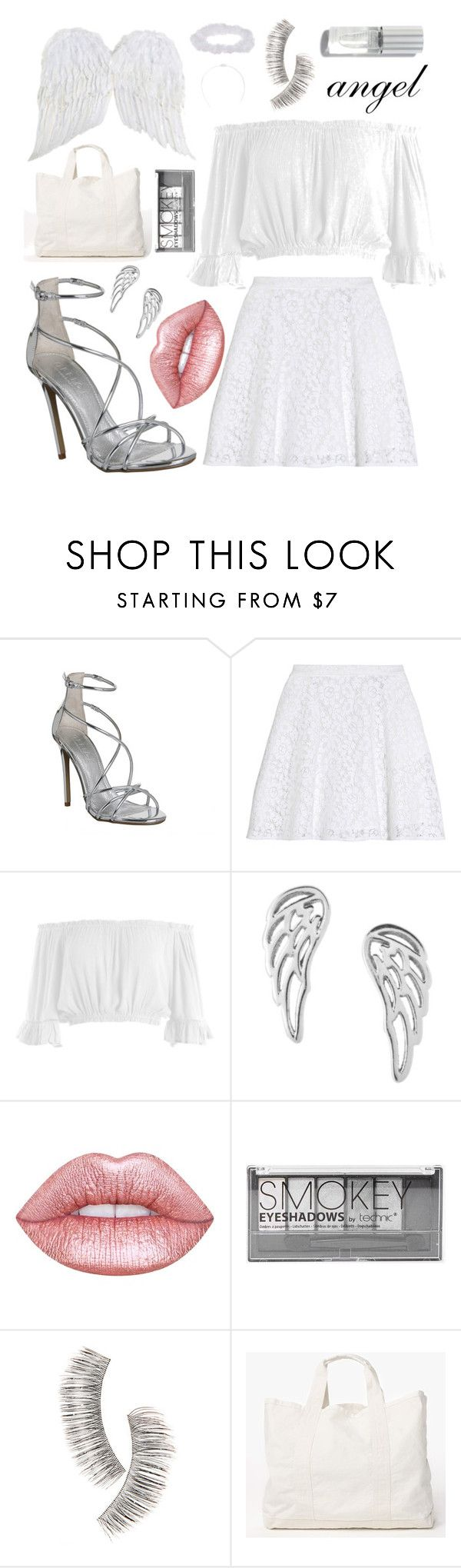"""""""Angel"""" by stylebearxx ❤ liked on Polyvore featuring Office, MSGM, Sans Souci, Mminimal, Lime Crime, Boohoo, Beauty Is Life, James Perse, halloweencostume and DIYHalloween"""