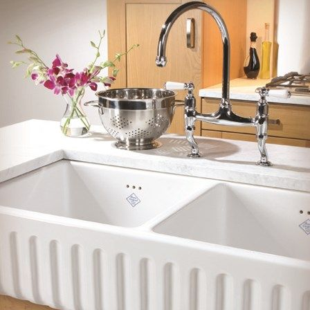 Ceramic Double Kitchen Sink 85 best ceramic kitchen sinks images on pinterest ceramic kitchen shaws ribchester white apron front ceramic double bowl belfast sink 997mm x 465mm workwithnaturefo