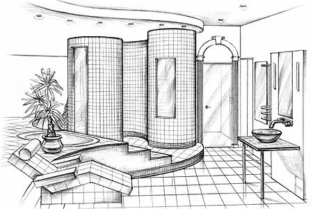 Interior Design Bedroom Sketches bathroom interior design sketches design ideas | environmental