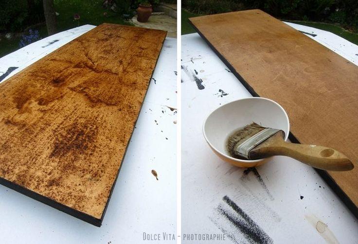 Dolce Vita: DIY : verwittertes Holz selbst herstellen - Willkommenstafel