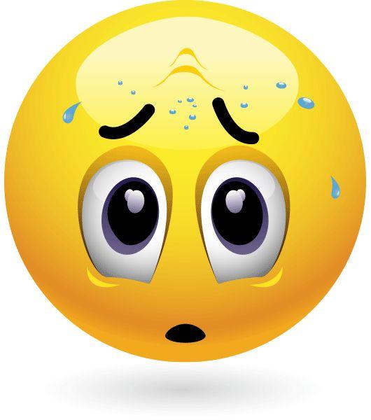 Nervous face emoji