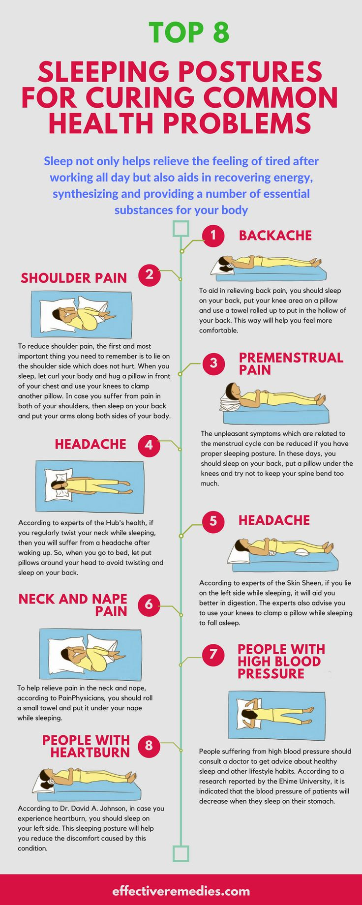TOP 8 SLEEPING POSTURES FOR CURING COMMON HEALTH PROBLEMS