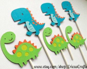 12 dinosauro Cupcake Toppers compleanno di di LittleMissStarchick