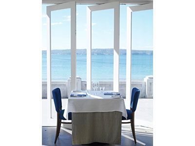 A table for two at Bather's Pavilion in Balmoral - Sydney, Australia